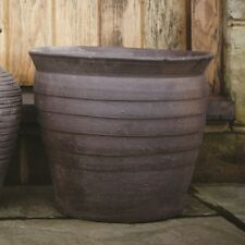 28cm Clearance Burnay Lucas Planter/Garden Pot/Hand Crafted/Brown Vase