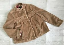 Gap Girl Jacket sz 8 Brown Corduroy Cotton Double Breasted