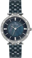 Accurist 8162 Crystal Bezel Blue Black Mother of Pearl Dial 2Yr Guar RRP £239.99