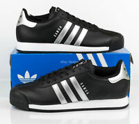 Adidas Originals Samoa Leather Shoes AQ7907 Black White Metallic Men's size 11