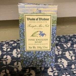Vintage Soap Forget Me Not by Woods of Windsor 3.5 oz Fine English Soap Boxed