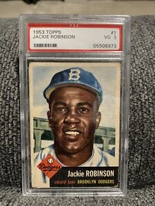 1953 Topps Jackie Robinson #1 PSA 3 VG