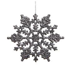 "Vickerman M101427 Glitter Snowflake 24/PVC Box, 4"", Pewter"