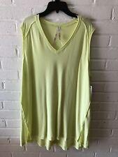 New Melissa McCarthy Seven7 Woman's Sleeveless Knit Tunic Top  Green 1X V99