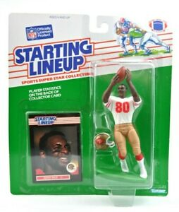 NEW NOS 1989 NFL Jerry Rice Starting Lineup With Card & Mini Helmet Kenner J3