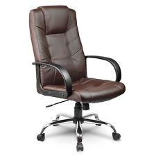 Bürostuhl Chefsessel Drehstuhl Kunstleder Farbe schwarz / braun Eago EG-221