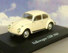 SUPERB ATLAS 1/43 DIECAST CLASSIC 1960 VOLKSWAGEN VW BEETLE 1200 IN CREAM/BEIGE