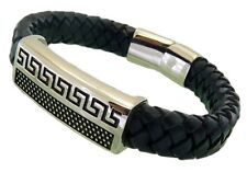 Leather Bracelet Stainless Steel Magnetic Clasp 12MM Premium Quality Range LB119