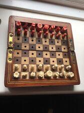 Georgian antique acajou voyage aux échecs avec os pièce JEP Murton Newcastle