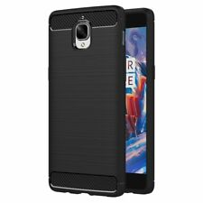 For OnePlus 3 3T Case Carbon Fibre Gel Cover Shockproof Slim Black