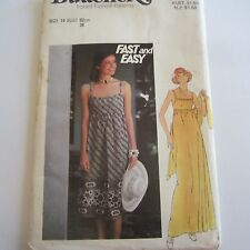 "size 14 Vintage 1970S Sewing Pattern Butterick 4869 Ladies Dress Bust 34"" FF"