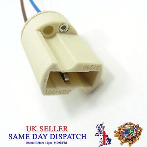 G9 Base Ceramic Socket Lamp Holder Cable Halogen Bulb LED Light Fitting