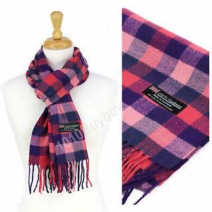 Men And Women Scarf Plaid 100% Cashmere Made Scotland Classic Soft Winter