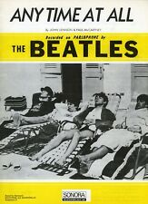 The Beatles 1964 Anytime At All Sonora Sheet Music (Scandinavia)