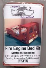 KIT - Fire Engine Bed -  FS410 dollhouse furniture Dragonfly 1/12 scale wood
