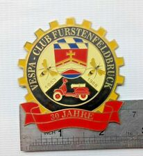 VESPA BADGE euro GERMANY CLUB VINTAGE GS FARO BASSO FOR SALE PLAQUE PLAKETTE