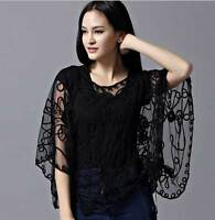 Sheer BOLERO SHRUG Handcraft cape Women Top amice exquisite Jacket 8-20 Wedding