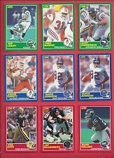 1989 SCORE Football you pick commons 12 picks for $2.00 N M cond. and better