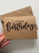 Custom Braille Happy Birthday Card Made To order For The Blind