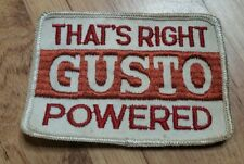 Vintage SCHLITZ Patch That's Right GUSTO POWERED BEER BREWERY power