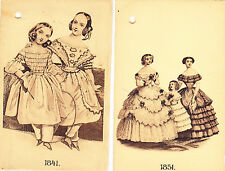 FASHION PRINTS/DENMARK(Stenders Forlag): Women's Dress 1841-1911/ 8 Sepia Prints