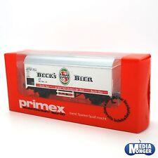 "Märklin PRIMEX scala H0 №4548 Vagone trasporto birra 2 assi "" Beck ´s "" IN"