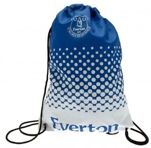 Everton Football Club Official Gymbag Blue Swimming Kit Bag PE Bag Drawstring