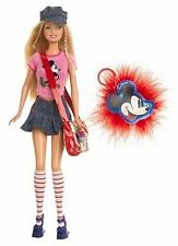 Barbie Loves Mickey Mouse doll NEW key chain 2004 bag pink shirt leggings