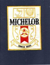 """Grand 7 1/2 """" Michelob Bière Compagnie Original Brewery Publicité Veste Patch"""