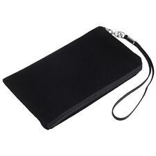 Soft Case Tasche f ZTE Blade A452 Etui Hülle black mit Reissverschluss