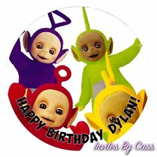 TELETUBBIES ROUND 7 INCH EDIBLE IMAGE CAKE TOPPER BIRTHDAY PARTY KIDS