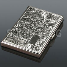 Cigarette Case Metal Super King Size Box Holder Cases Tobacco Long 20 Cigarettes