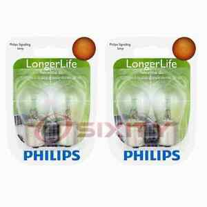 2 pc Philips Front Turn Signal Light Bulbs for Peugeot 304 404 405 406 504 ky