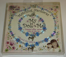 """My Doll n Me Matching Necklaces Blue Horse Set 12"""" Girl New Dress Alike"""