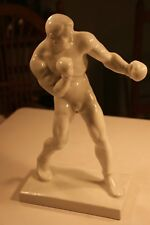 """Herend Porcelain Blanc de Chine Figure of a Boxer, Signed, 12"""" Tall"""