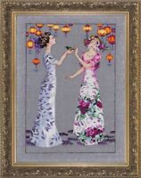 """SALE! COMPLETE XSTITCH KIT """"THE GARDEN PARTY MD140"""" by Mirabilia"""