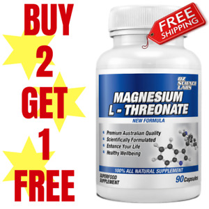 Magnesium L-Threonate 1800mg 90 Caps XTRA STRONG COGNITIVE BOOST QTY DISC BUYS