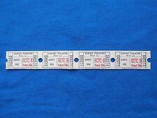 Vintage 39 Cent Sabine Theatre Tickets (Strip of 4) Drive-In Movie/Cinema - LA