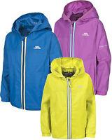 Trespass Maris Kids Jacket Waterproof Breathable Packaway Girls Boys Coat