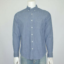 NWT J CREW Classic Fit Stretch Chambray Long Sleeve Cotton Casual Shirt Sz M