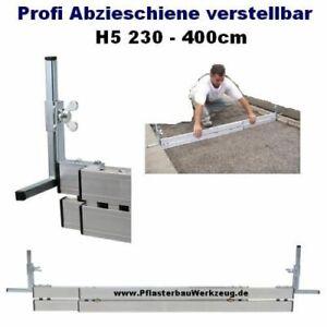 Profi Abziehschiene verstellbar H5 230cm bis 400cm Abziehlehre, Schüttgutlehre