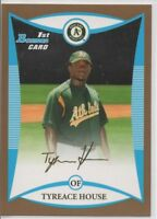 2009 BOWMAN DRAFT PROSPECTS TYREACE HOUSE ROOKIE GOLD