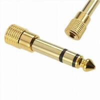 Prise Adaptateur Audio Jack 6.35mm Mâle vers 3.5mm Femelle Fiche Plaqué or