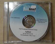 T.E.S.T. AGILENT E1421B VXI MAINFRAME USERS INFORMATION ON CD