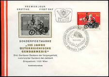 Austria 1974 gendarmeria 125th ANNIV FDC primo giorno Coperchio #C 24064