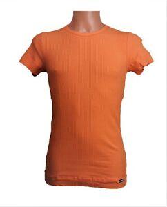 MANSTORE Herren T- Shirt Rocky Mango Orange Rippe