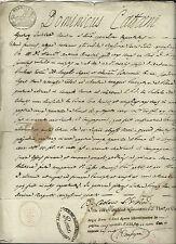 Roma Stato Pontificio 10 Agosto 1824 Atto Giudiziario Firma Cardinale Cattani