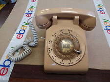 Vintage Bell System Desk Rotary Dial Phone Beige/Tan