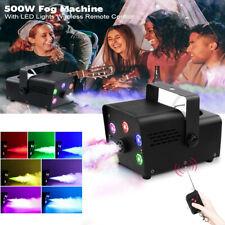 500W Nebelmaschine Bühnenlicht Nebeleffekt RGB 5LEDs DJ Rauchmaschine + 2 Remote