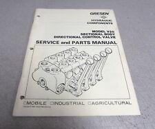 Gresen Dana V20 Sectional Body Directional Control Valve Service Parts Manual